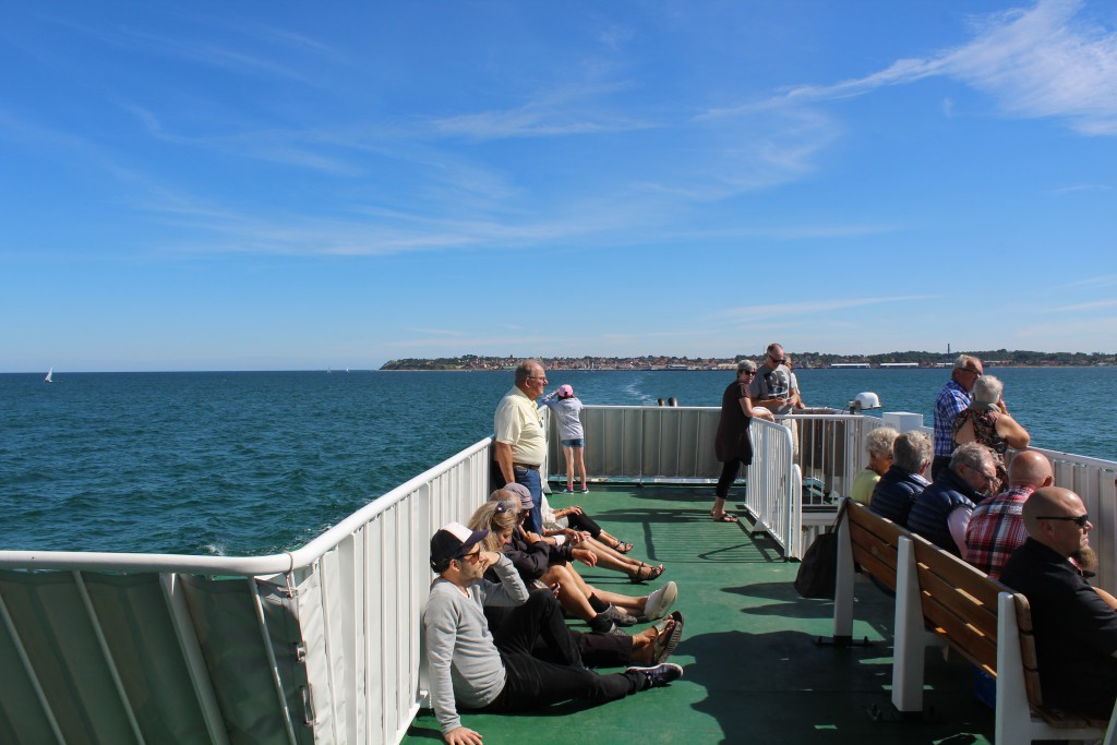 """View from ferry """"ISEFJORD"""" in direction east to Hundested and Halsnaes. Photo"""