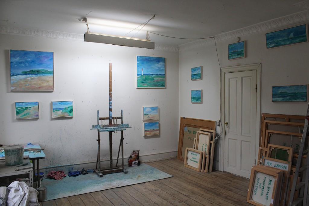 Per Baagøe ´s atelier i Bartholinsgade i København. Foto november 2016 af Erik K Abrahamsen.