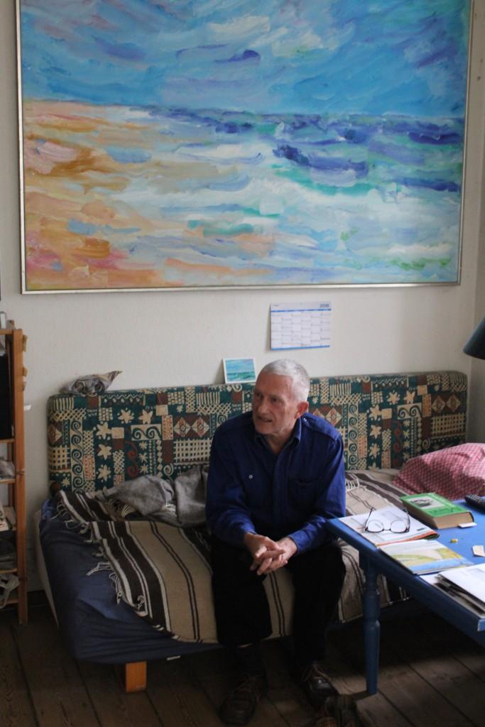 Per Baagøe i sit atelier, Bartholinsgade 7, København. Foto nove