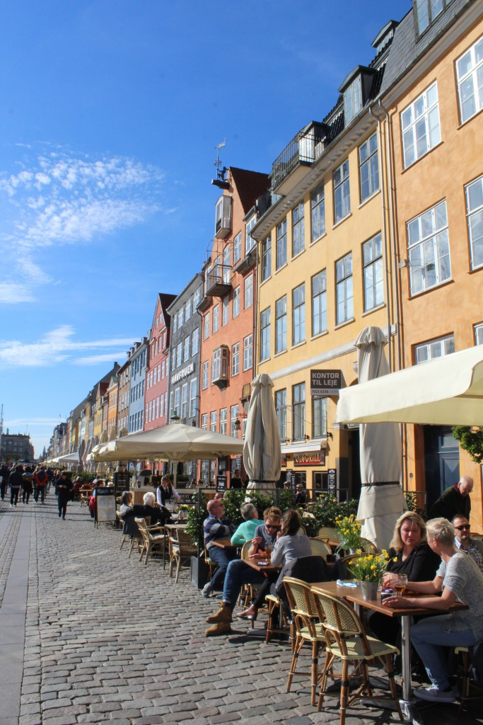 "Nyhavn - relaxed atmosphere on outdoor restaurants on ""sunny"" side of Nyhavn"