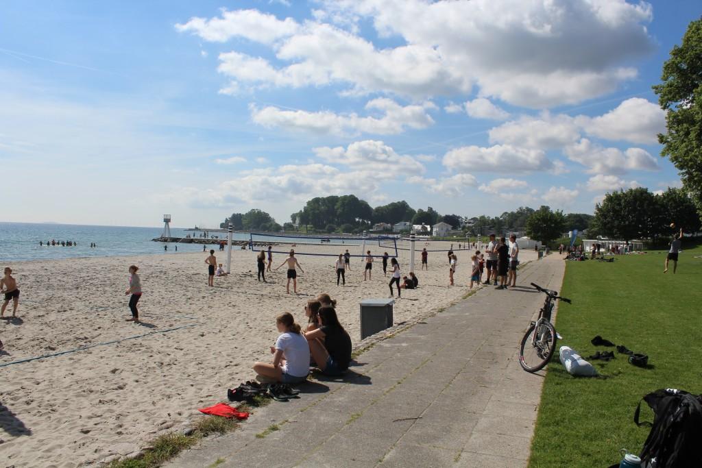 Bellevue Strand, Klampenborg tæt på Jægersborg Dyrehave. foto