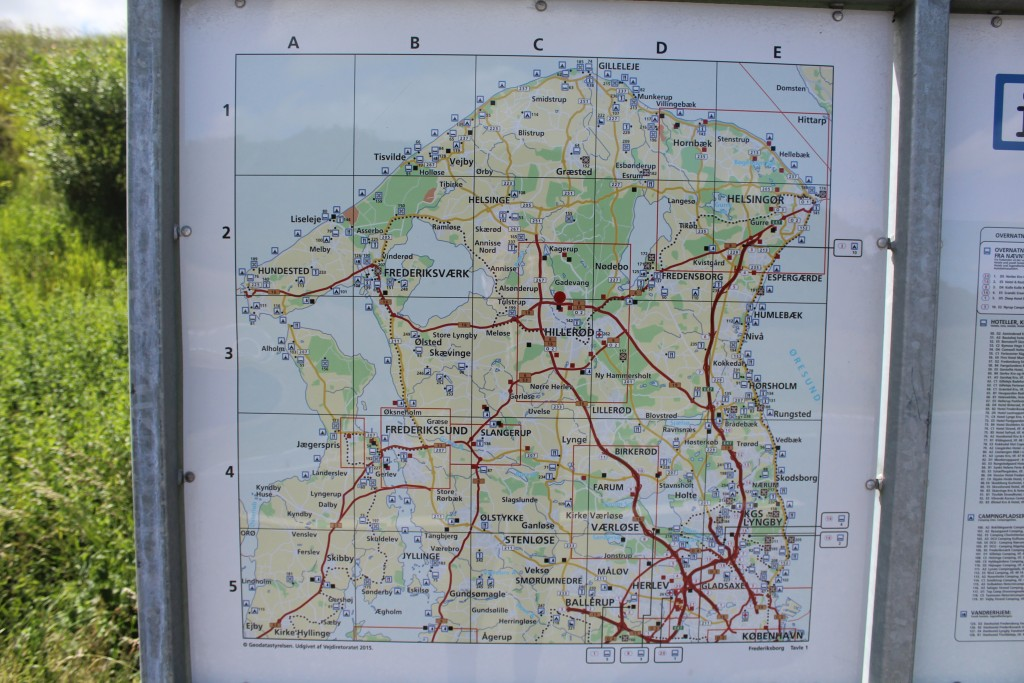 Map of North Sealan, Denmark-. Phoot 2014 by Erik K Aberahamsen.