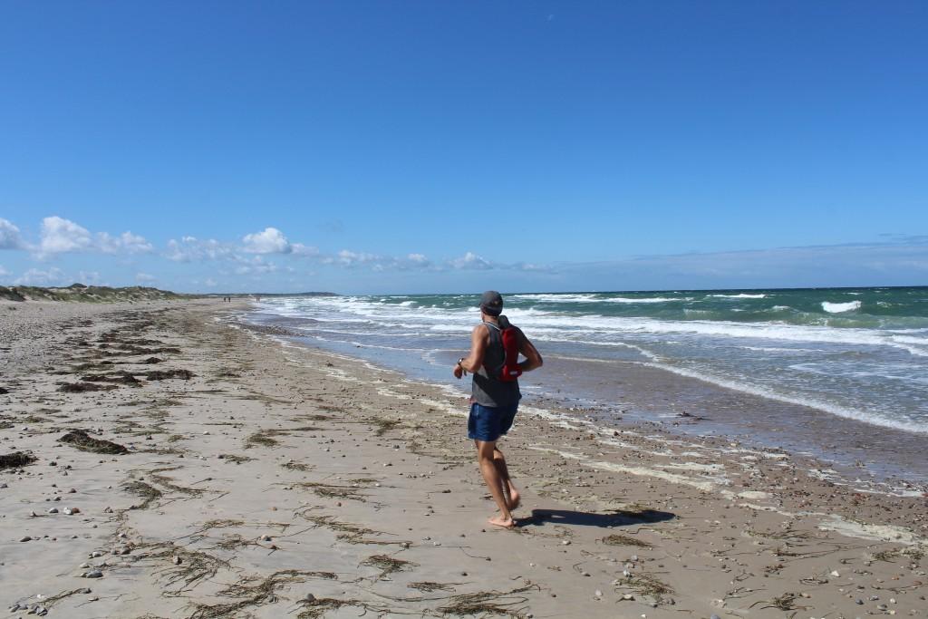 Løb langs Kattegats kyst ud for Tisvilde Hegn. Foto i retning vest mod Liseleje den 17.7.2017 af Erik K Abrahamsen