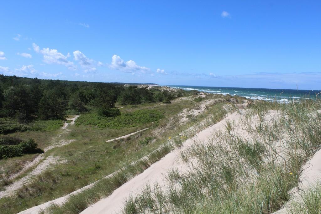 De høje klitrækker ud til Kattegats kyst med Tisvilde hegn godt beskyttet bagved