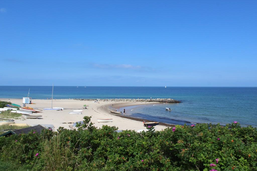 Tisvildelej strand med ophalingsp