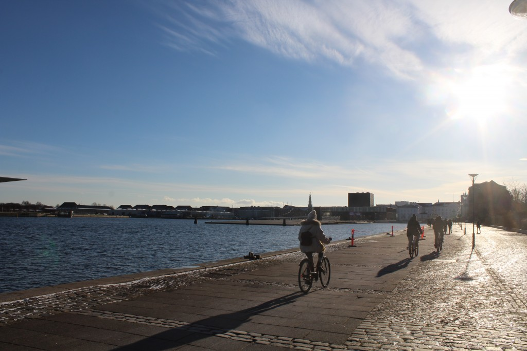 Copenhagen Inner Harbour. View in direction west to Ofelia Place, built 2016, Skuespilhuset (Theater) built 2004 and at right Amaliehaven built 1984. Phoot 5. february 2018 by Erik K Abrahamsen.
