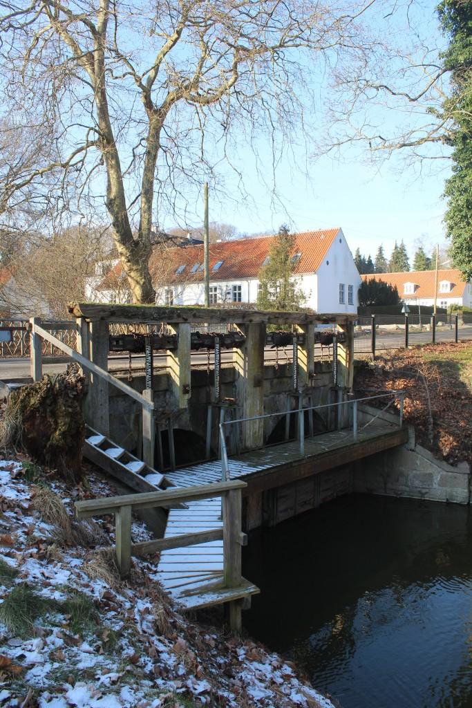 Arresø Canal at Arresødal Brigdge in Arrsødal forest.