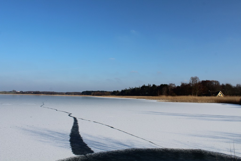 View to Arresø Lake and Arrenæs Peninsula. Photo in direction east 9. february 2018 by erik K Abrahamsen.