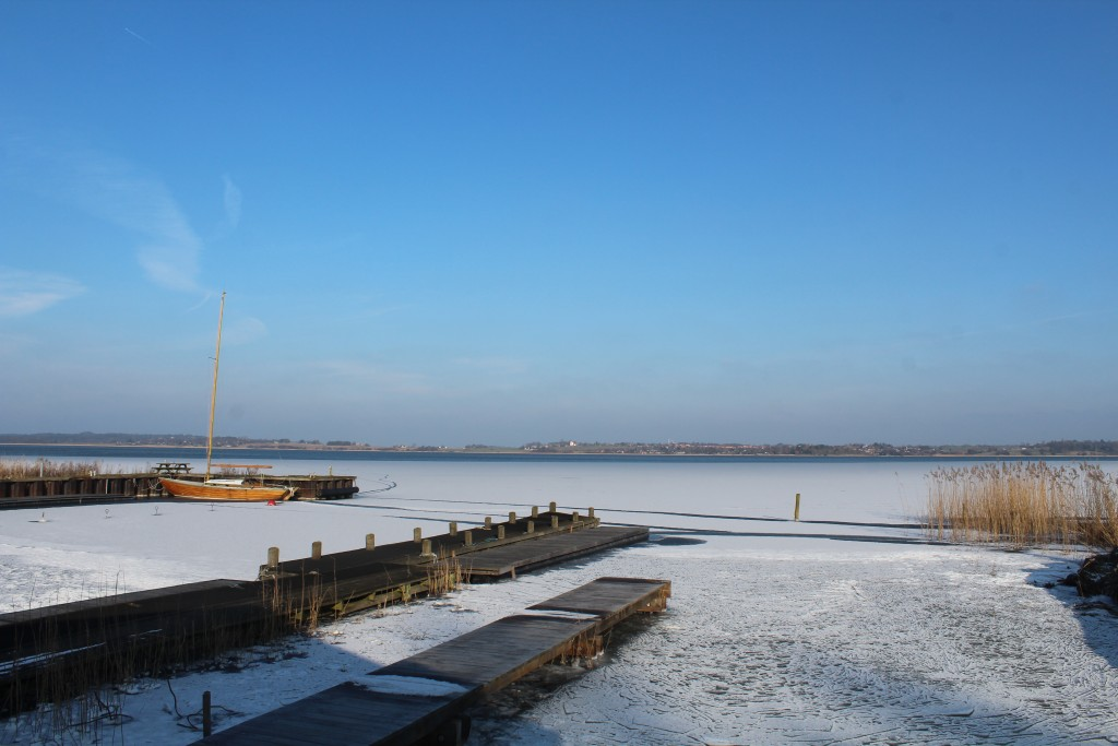 Nature Center Auderød Harbour on Arrenæs Peninsula. Photo in direction east to Ramløse. Phoot 9. january 2018 by Erik K Abrahamsen.