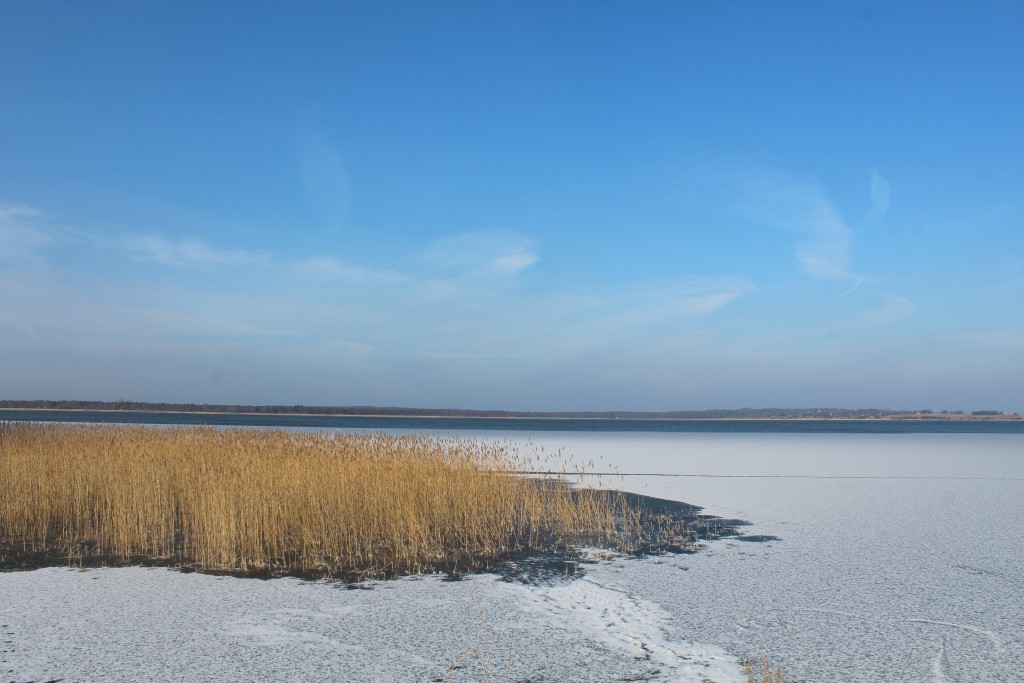 Arresø lake in North Sealand, Denmark. View in direction north from Auderød naturhavn. Photo 9. february 2018 by Erik K Abrahamsen.