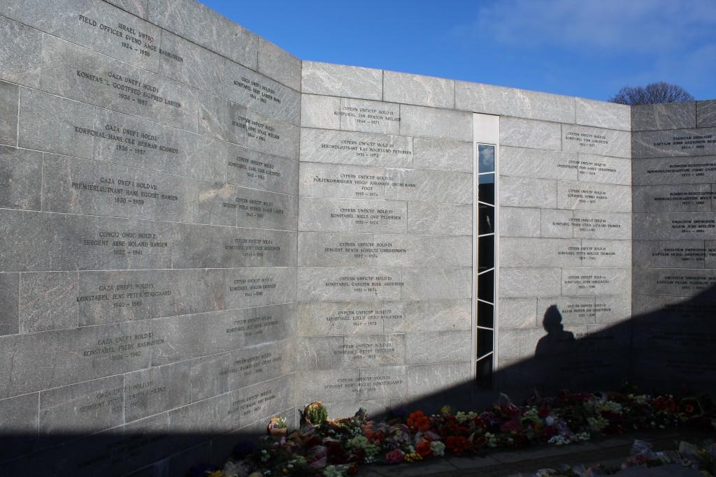 Det Nationale Monument i Kastellet. RUM: MENNESKET. Foto den 22. februar 2018 af Erik K Abrahamsen