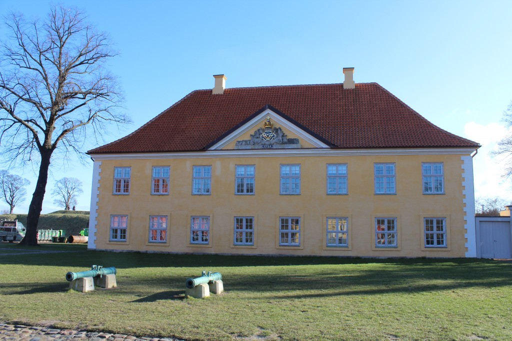 Fortress Kastellet. Commander building built 1725. Photo in direction east 22. february´y 2018 by Erik K Abrahamsen.
