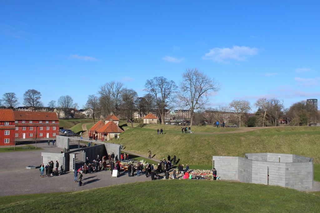 Kastellet. National Monument for Danmarks Internationale Indsats. Foto fr atop af Prisessens bastion. Norgesporten ses bagest i foto. Foto kl. ca. 11.15 den 22. februar 2018 af Erik K Abrahamsen.
