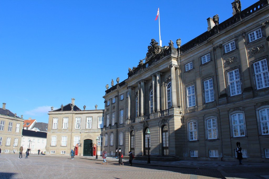 Amalienborg Royal Palaces. View to rockdorff Palace. Photo 22. february 2018 by erik K Abrahamsen.