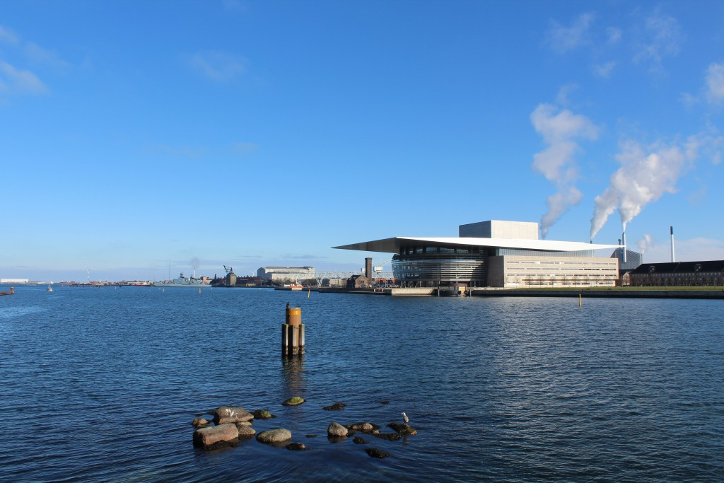 Copenhagen Inner Harbour. View to Copenhagen Opera built 2002-04. Photo in direction east 22. january 2018 by erik K Abragahsmen