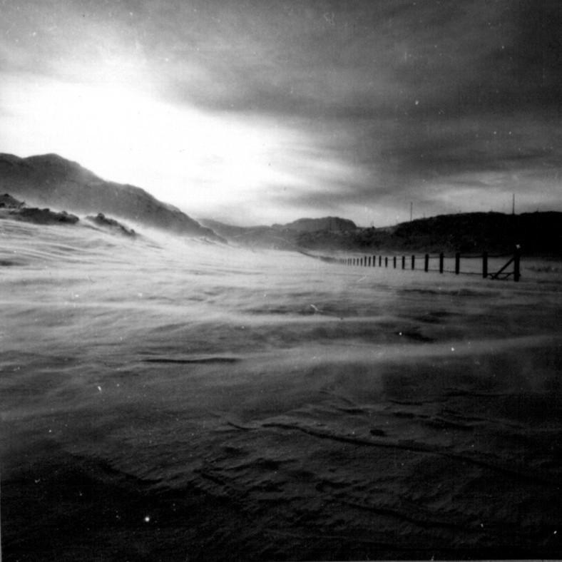 Snestorm i Narssarsuaq i første uge af marts 1961.