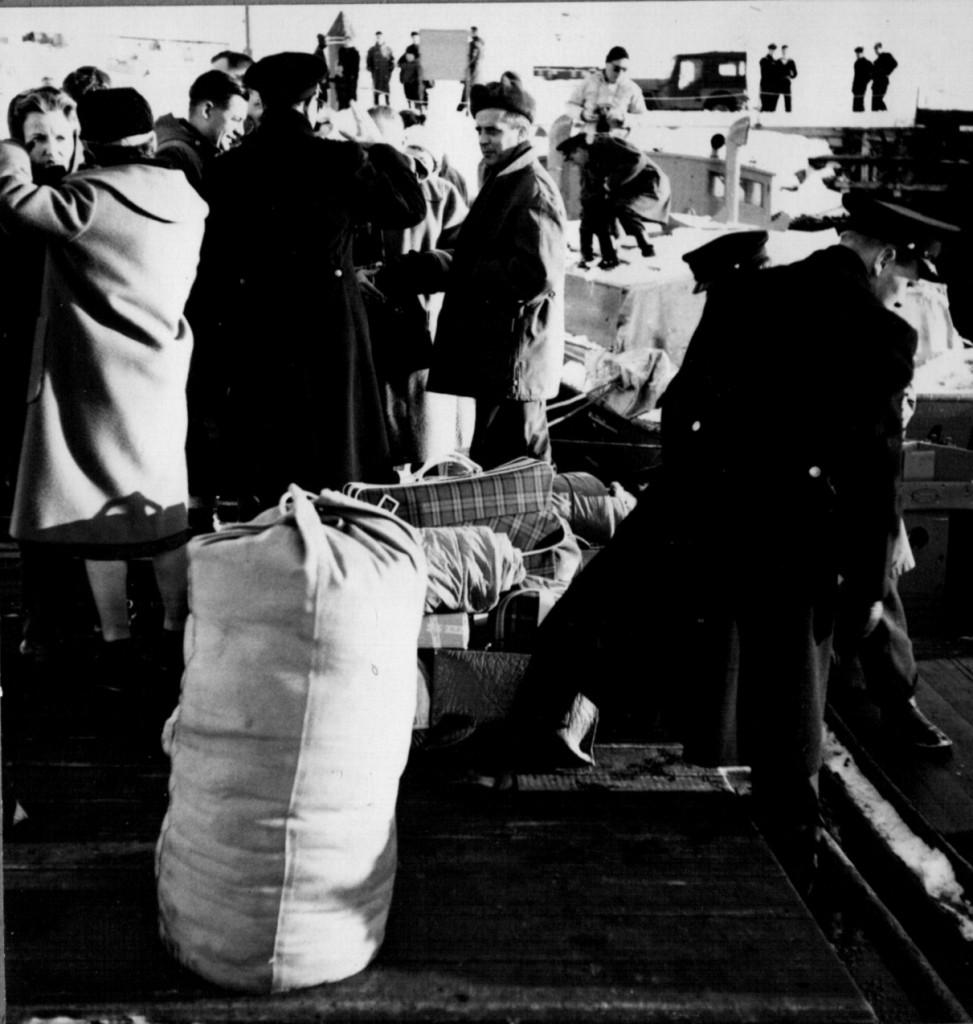 Modtagel på Havnemolen. Foto den 5. marts 1091 af melvin Erik Pedersen