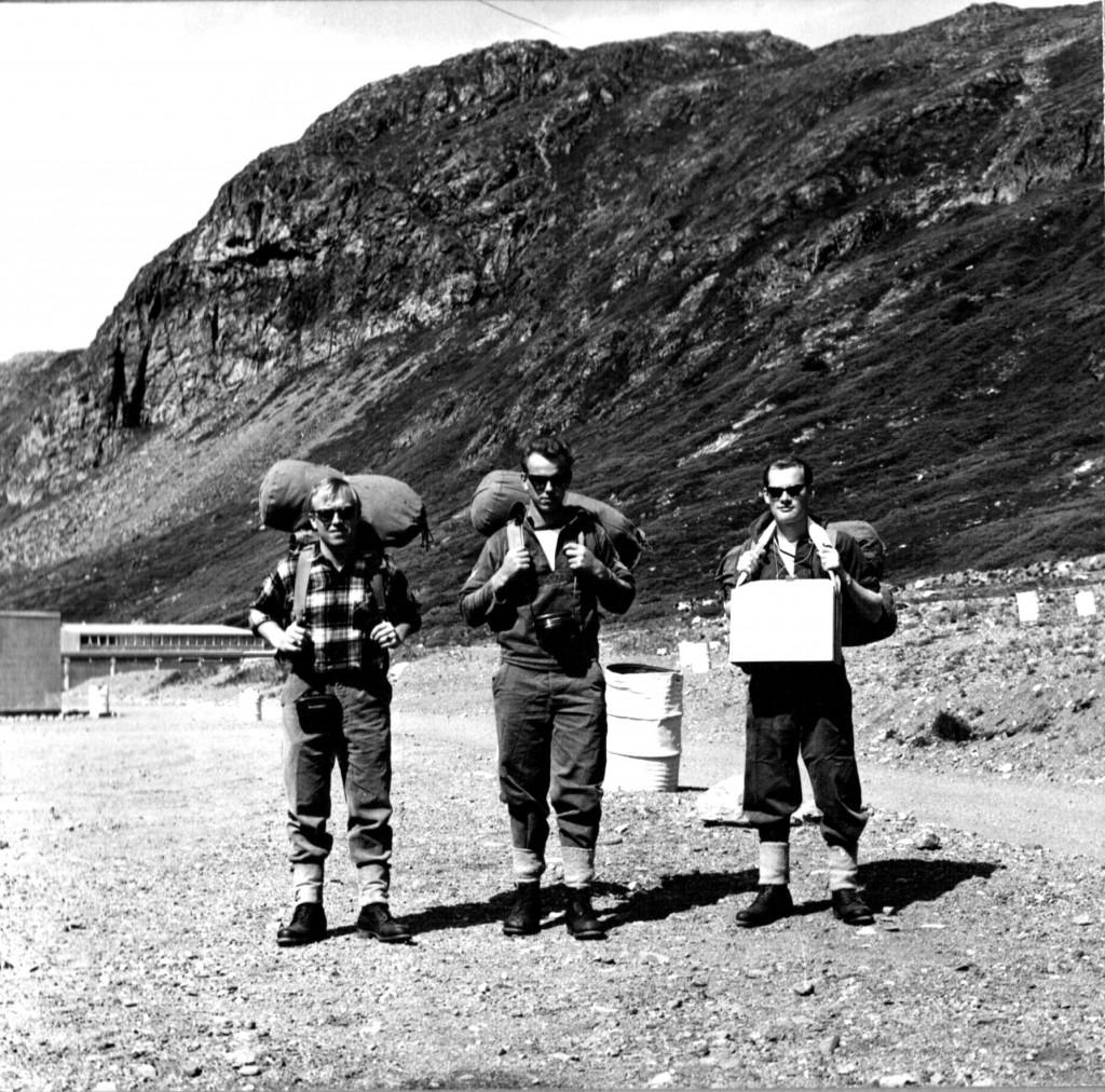 Afgang på wee-end tur. Foto 1961