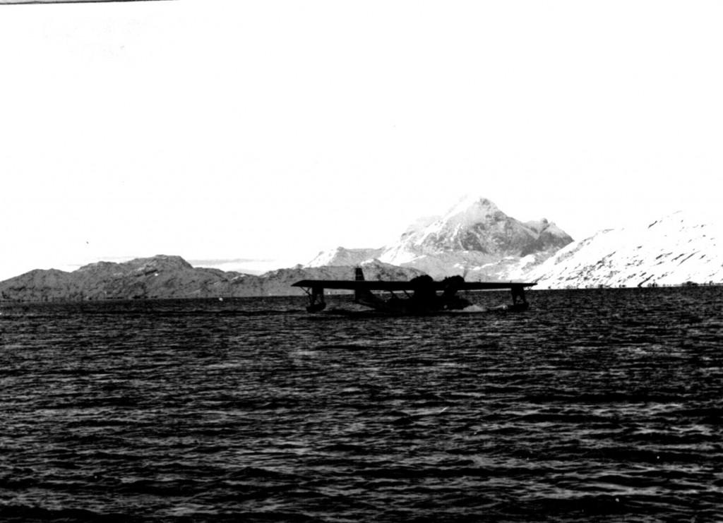 Catalina fly klar til at lette fra Arsuk Fjord. Foto 1961.