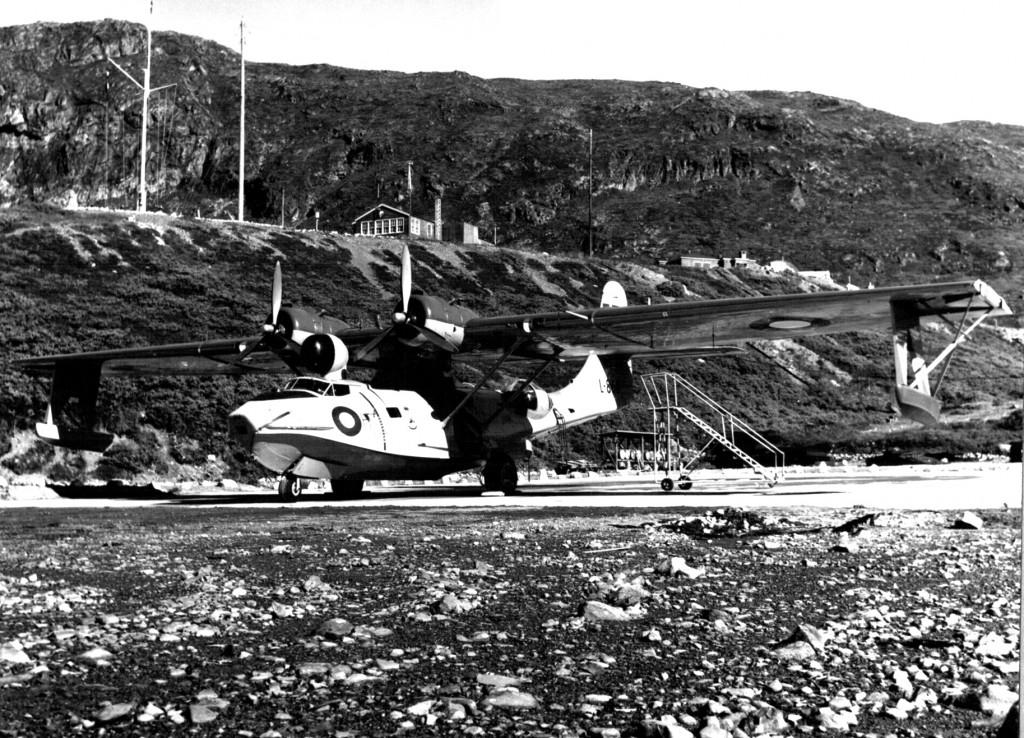 Catalina fly på flyrampen på Flåderstation Grønnedal. Foto 1961.