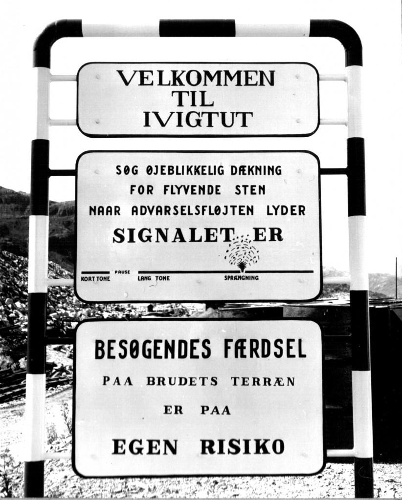 Skit i Ivigtut. Signalsprængning. Foto 1961