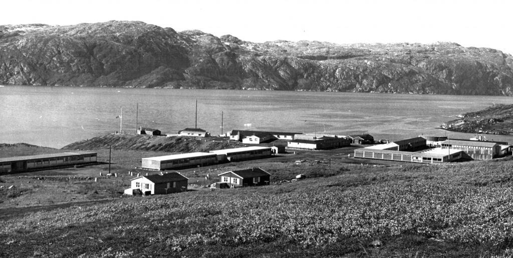 Oversigtsfoto af Flådestation Grønnedal. Foto 1961