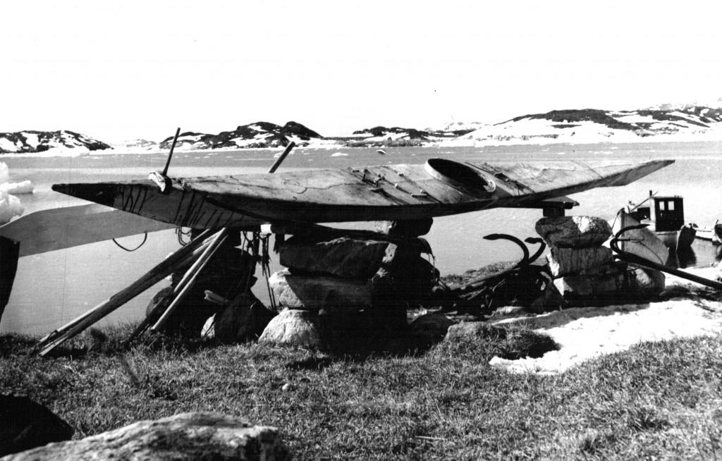 Grønlandsk Kajak. SArsuk. Foto Melvin Erik Pedersen 1961-62.