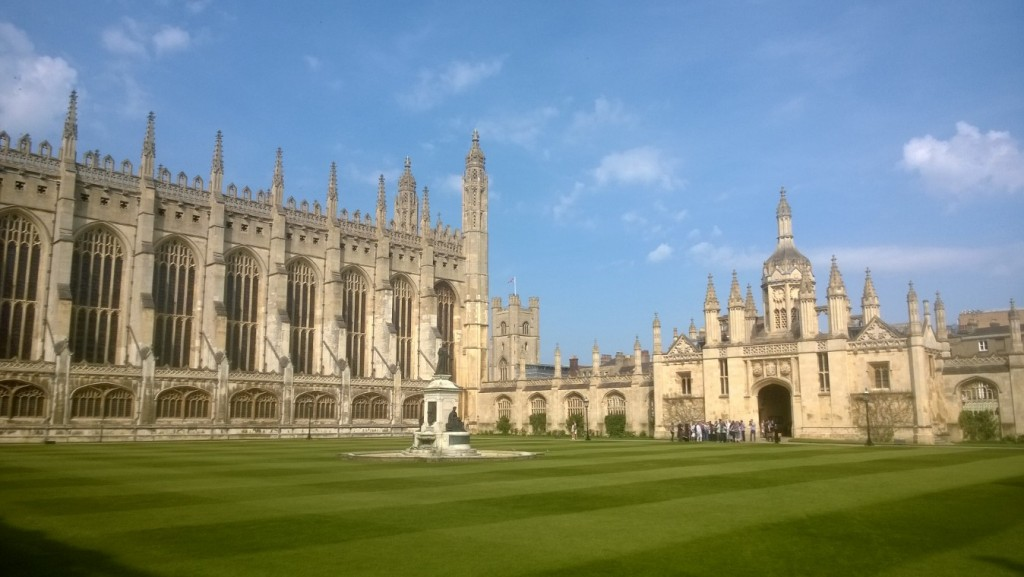 King´s College and Chapel - vewu from garden neighbor to River Cam. Photo (mobile) 21. april 2018 by erik K sabrahamsen.