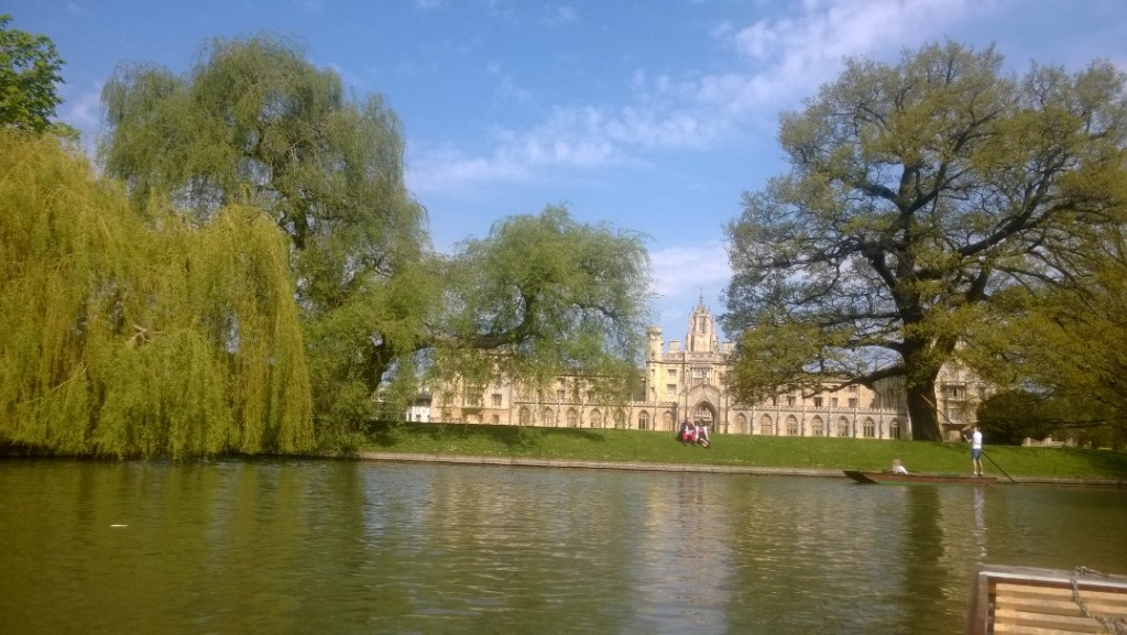 River Cam. View to College. Photo (mobile) 21. april 2018 by Erik k Abrahamse,