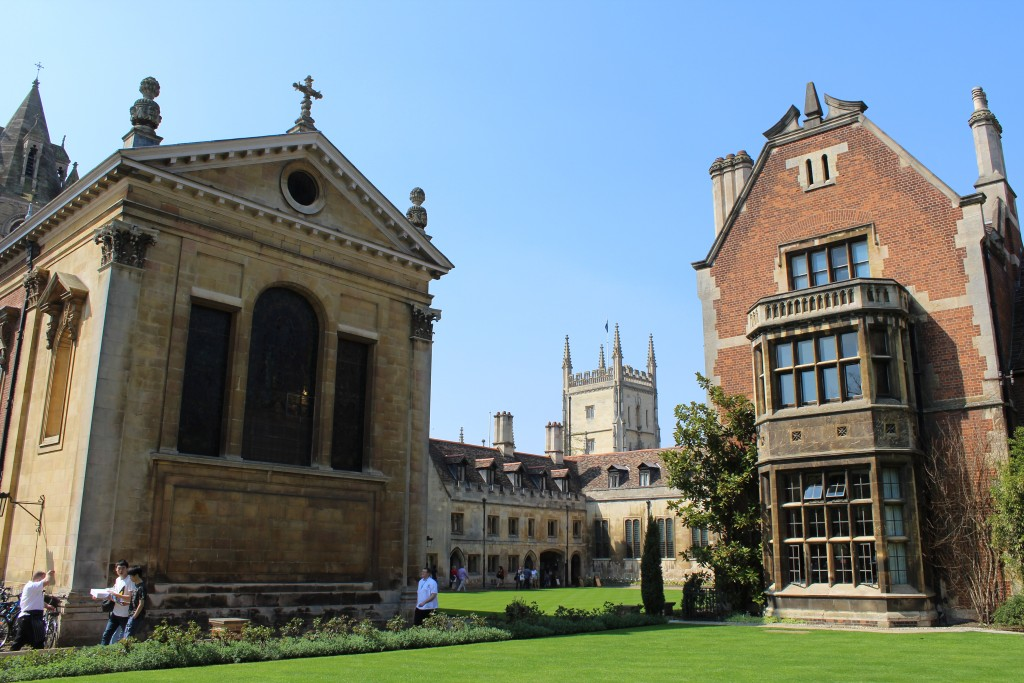 Pembroke College - view to Chapel and courtyard. Photo 20. april 2018 by Erik K Abrahamsen.