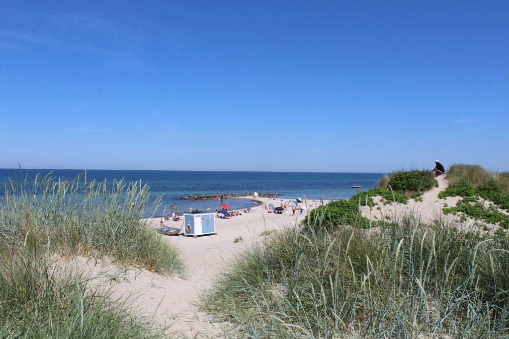 Liseleje beach. View in direction north to Kattegat Sea. Photo 2. june 2018 by Erik K Abrahamsen.