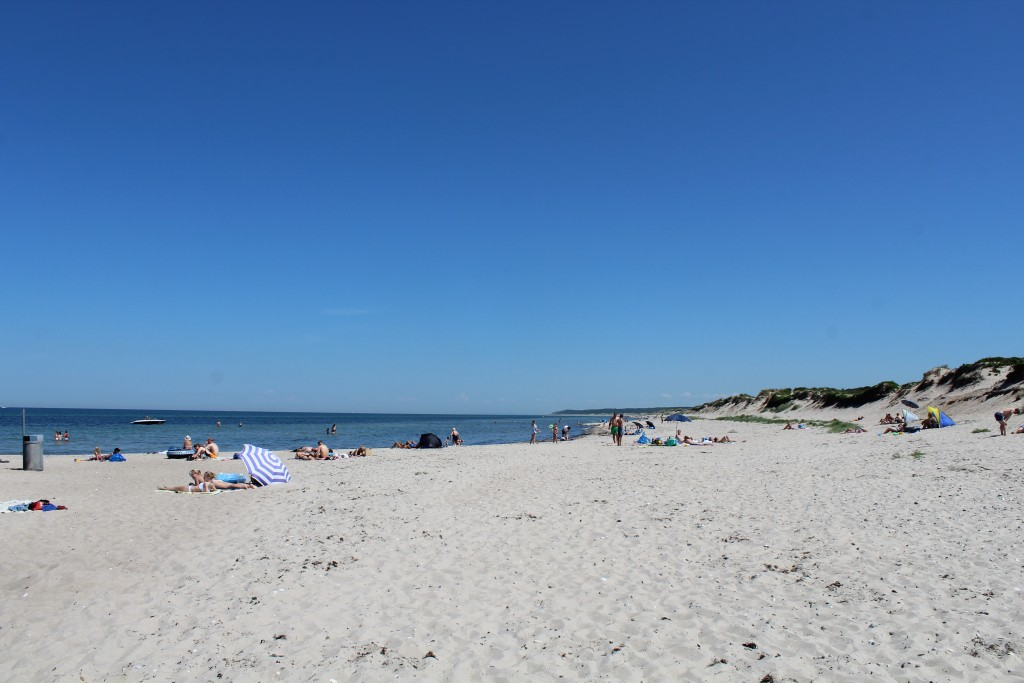 Liseleje beach - view in direction east to Tisvilde hegn and Tisvildeleje in horizon. Photo 2. june 2018 by erik k abrahamsen