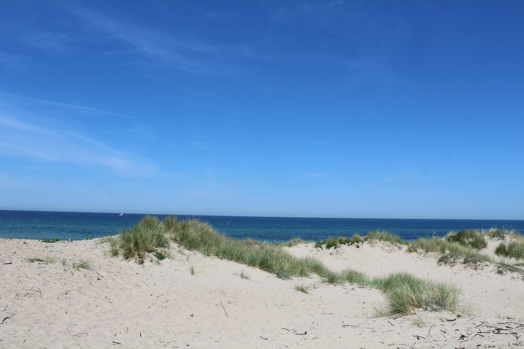 Liseleje beach - view in direction north to Kattega sea. Photo 2. june 2018 at 12.50 pm by Erik K abrahamsen