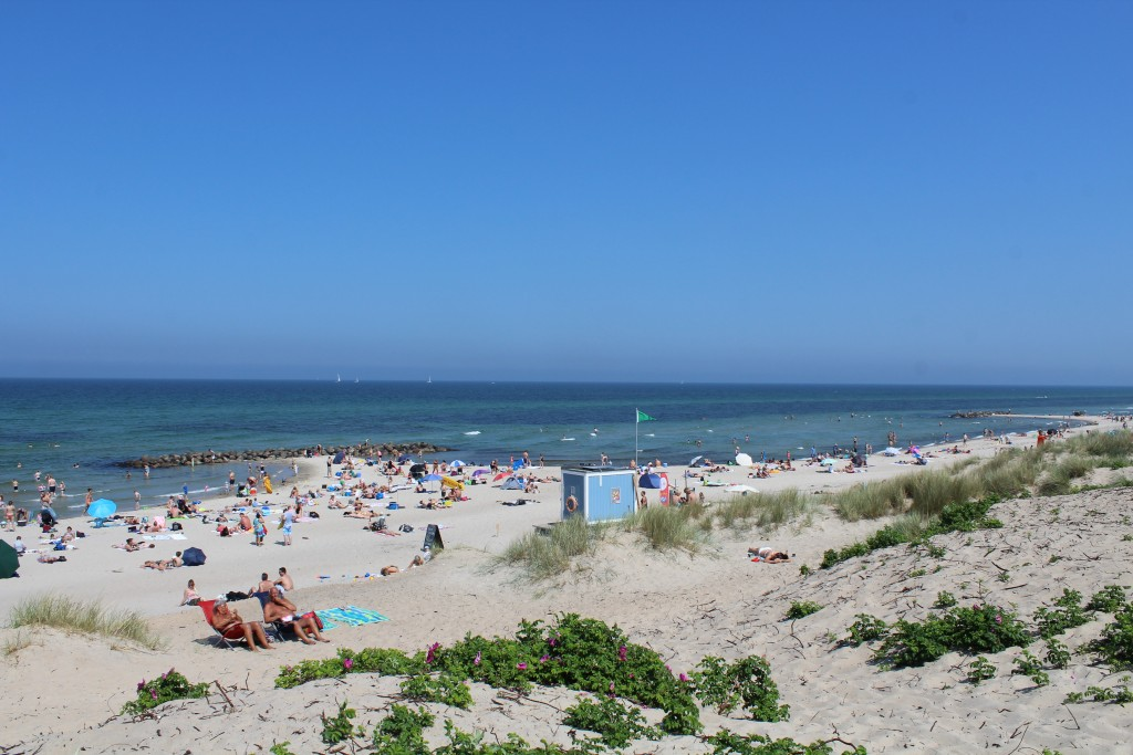 Liseleje beach - view in direction north to Kattegat Sea. Photo 3. june 2018 by Erik K Abrahamsen.