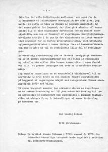 Brev af 3. august 1976 til Regering og Folketing m. fl.