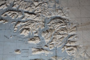 Reliefkort over Ivigtut, Greenland. Foto 8. marts 2018 af erik K Abrahamsen.