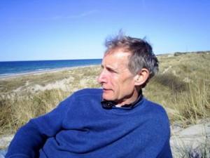 Erik K Kristian Abrahamsen, født i Skagen 4. august 1945. Kysten ud for Tisvilde Hegn sommeren 2009.