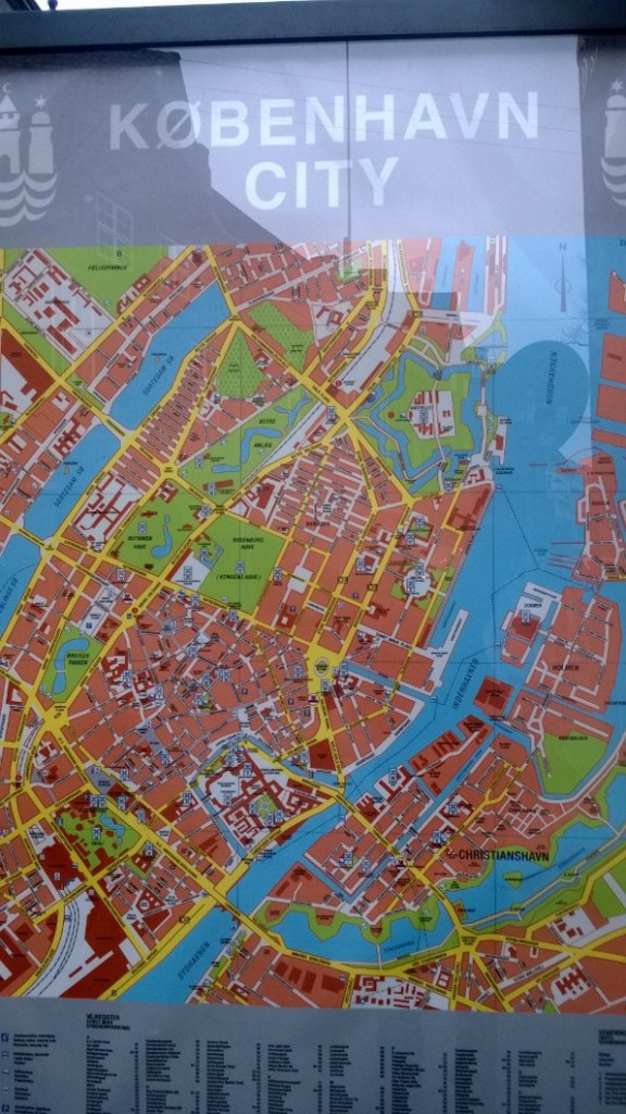 Kort over København City. Foto den 24. marts 2015 af Erik K Abrahamsen