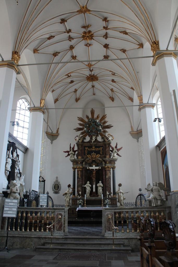 Trinitatis Alter udført af Friederich Ehbisch i 1730´erne. Foto den 16. marts 2915 af erik K Abrahamsen
