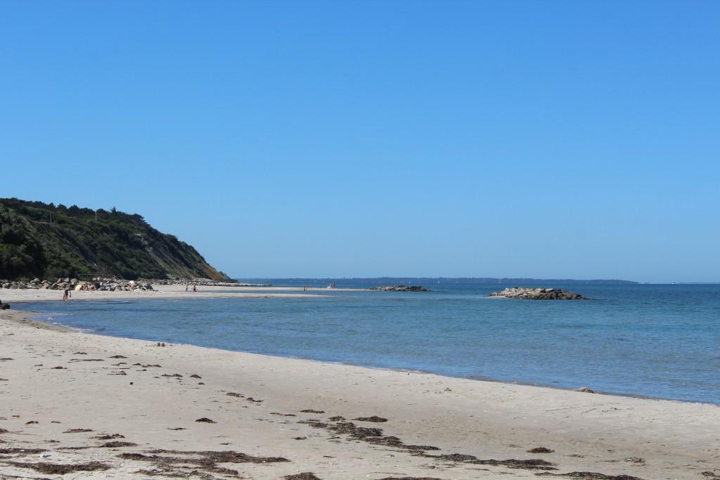 Hyllingebjerg beach at Kattegat Coast in Northsealand, Denmark. Photo in direction west to Kattegat Sea 1. july 2015 by Erik K Abrahamsen