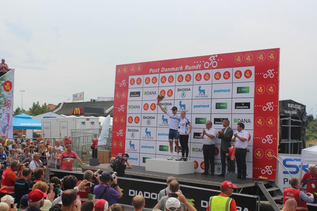 Kåring af Changing Diabetes Bakketrøjen efter 4. etape 115 km Slagels-