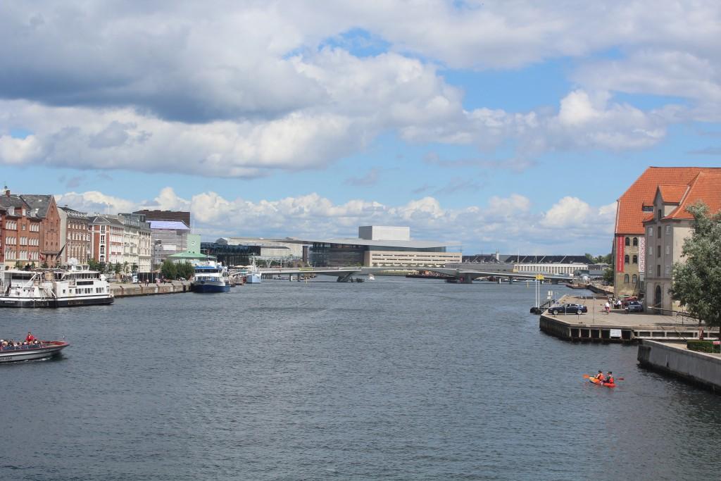 View from Kneppels Bro ib direction ti Inderhavnsbroen (The Inner Harbour Bridge in Copenhagen Harbour)