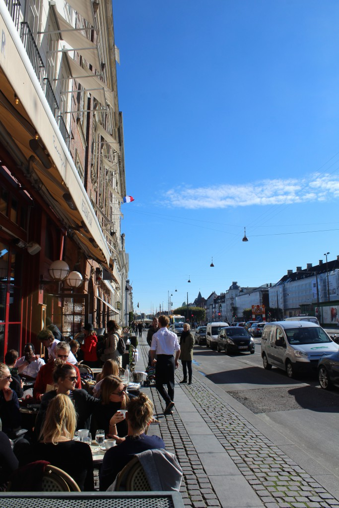 Kgs. Nytorv in Copenhagen. View in direction south to Nyhavn canal in the distance. Photo 12. october 201