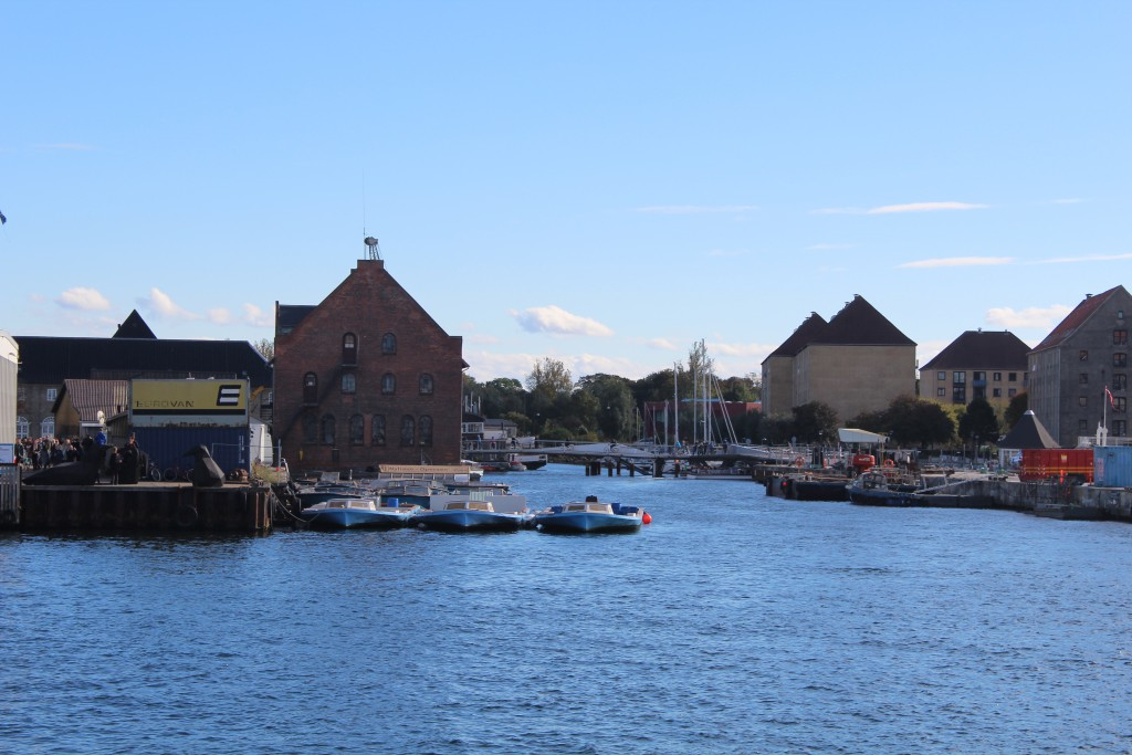 Copenhage Inner Harbour. View in direction south to new walk-and bi