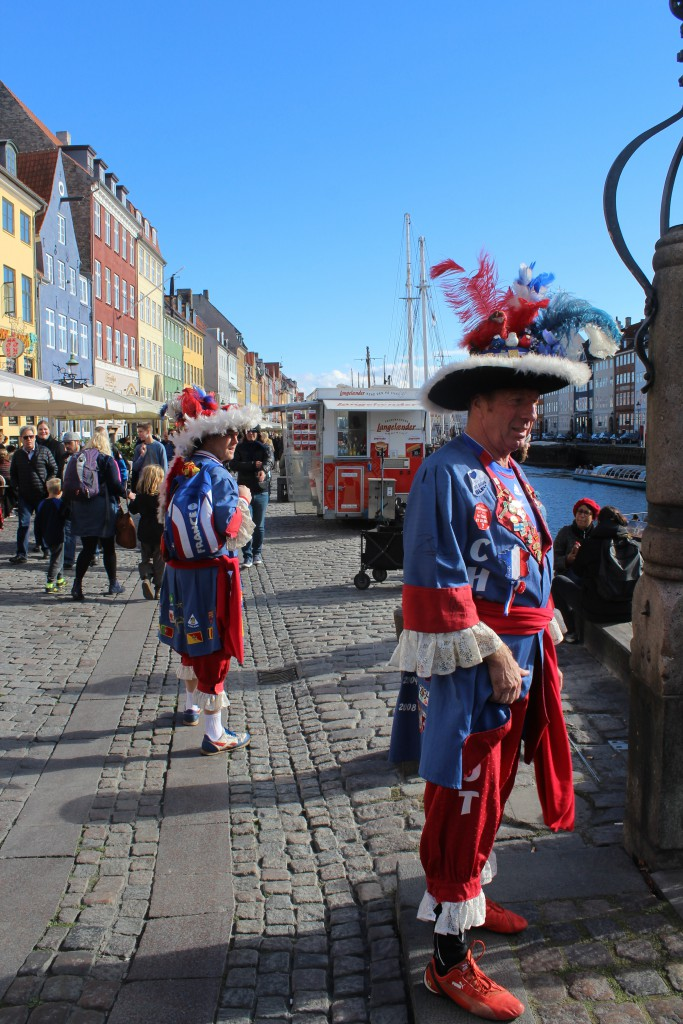 """French football supported in Nyhavn before the match in """"Parken"""" stadium the same evening. Phot 12. o"""