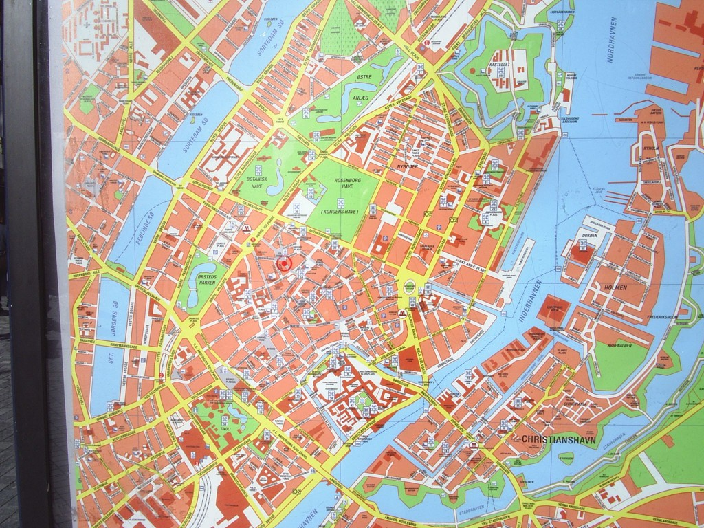 Map of Copenhagen City.