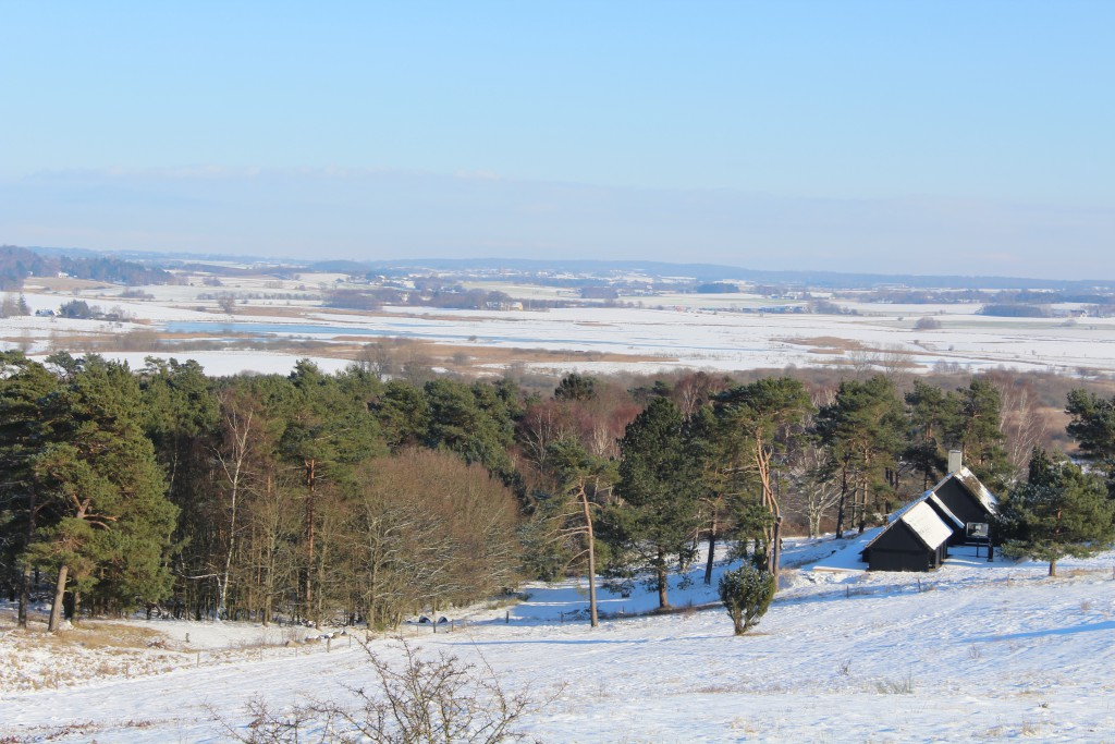 """Tibirke Hills. Viewpoint """"Udsigten"""". View in direction south 5. february 2015 by Erik K Abrahamsen."""