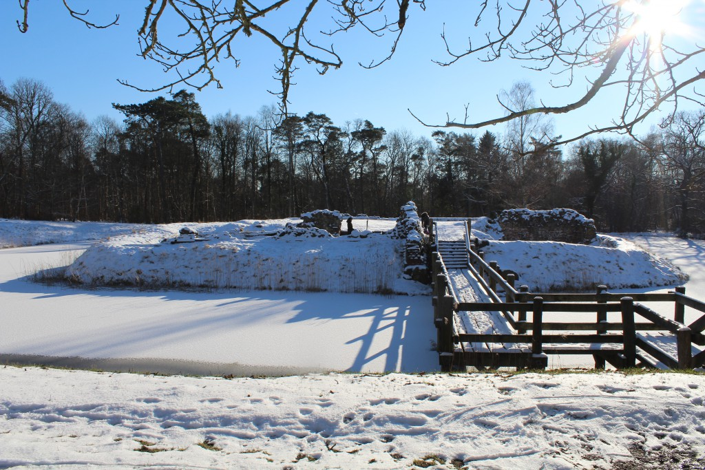 Asserbo Castle Ruin founded about 1100. Later expanded to a castle. Photo 5. february 2015 by erik K Abrahamsen.
