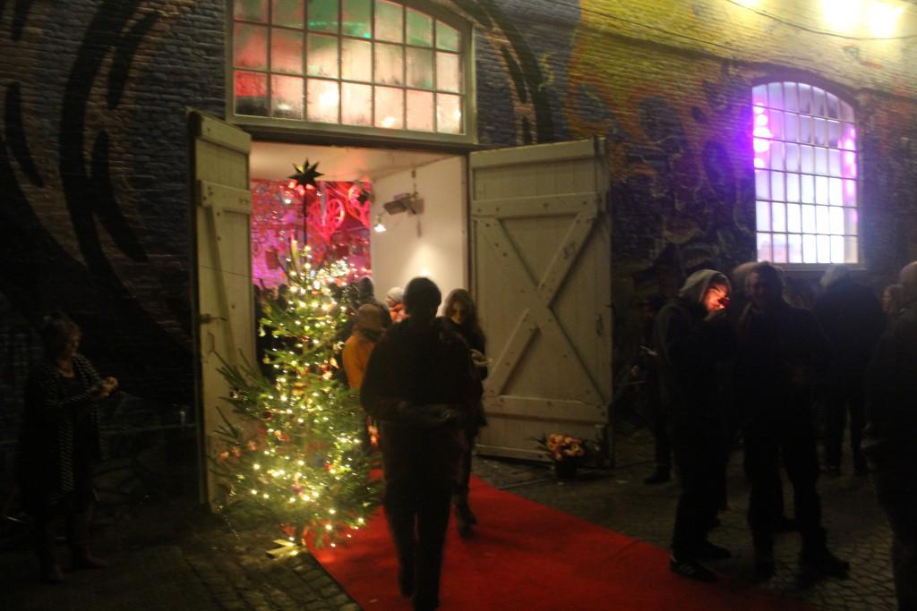 Entrance Grey Hall, Christiania, Christianshavn in Copenhagen, Denmark. Photo 24. december 201
