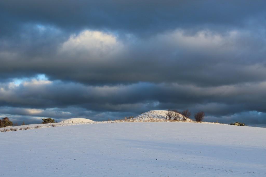 Seven Highs (Syv Høje), melby, North Sealand, Denmark. Photo about 9 a.m. 17. january 2017 by erik K Abrahamsen.